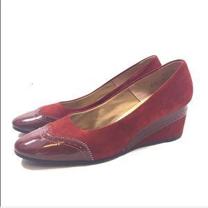 Dori Women's Red Vintage Wedge Heels